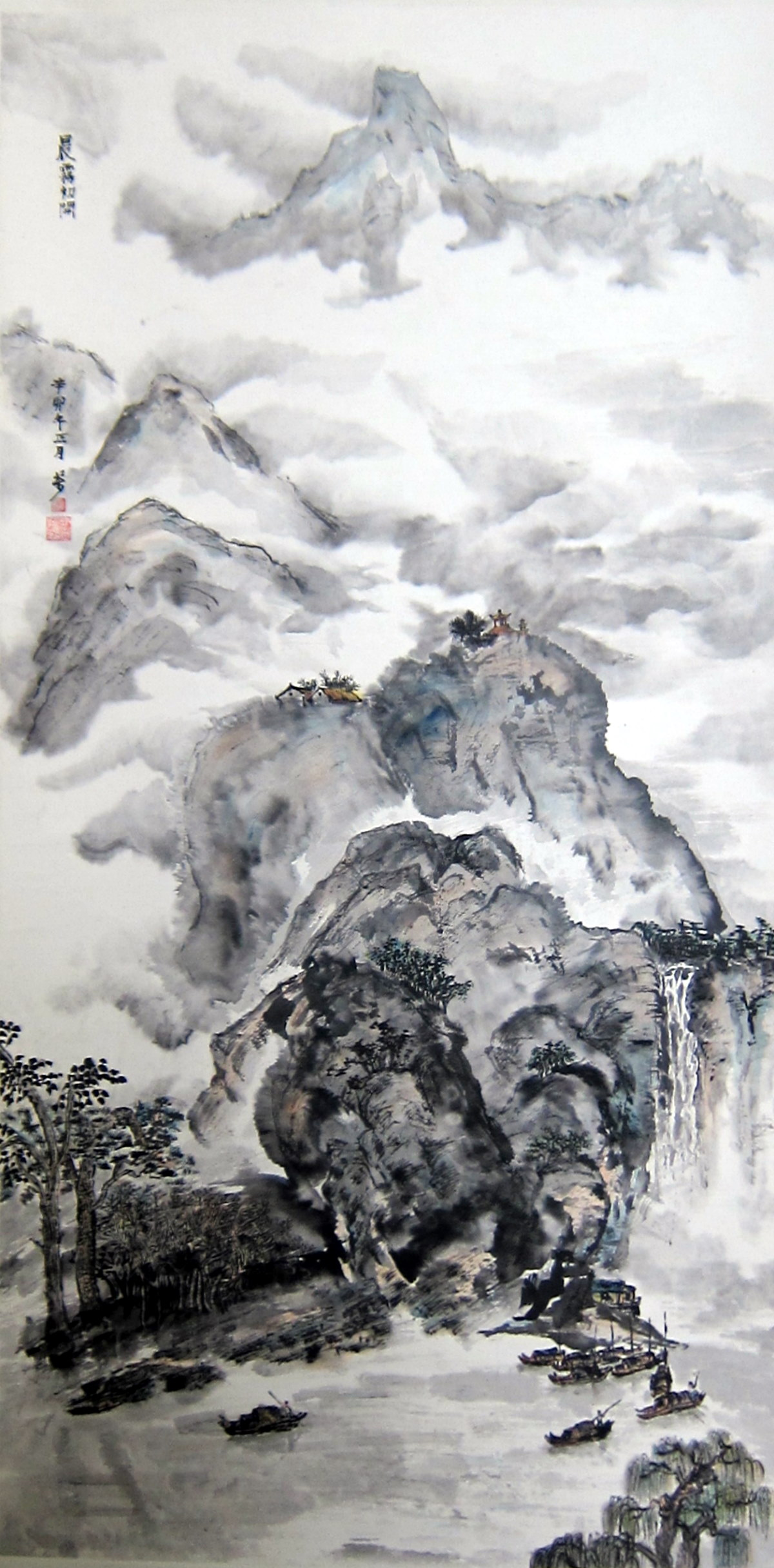 Pics for ancient chinese landscape drawings for Chinese mural art